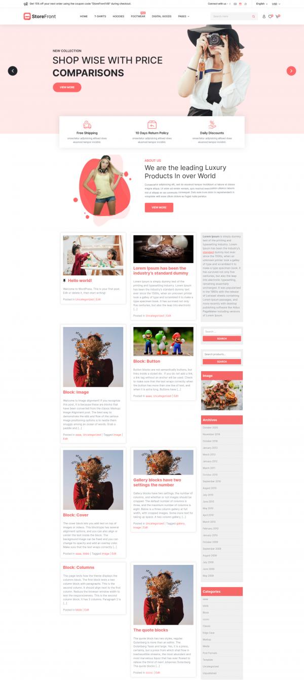 free-storefront-wordpress-theme